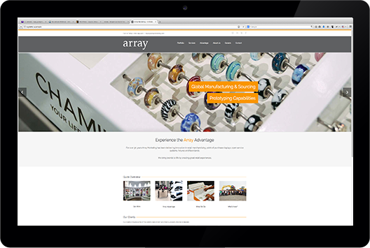 Array's Graphic-Rich Website, click on the image to go to that website