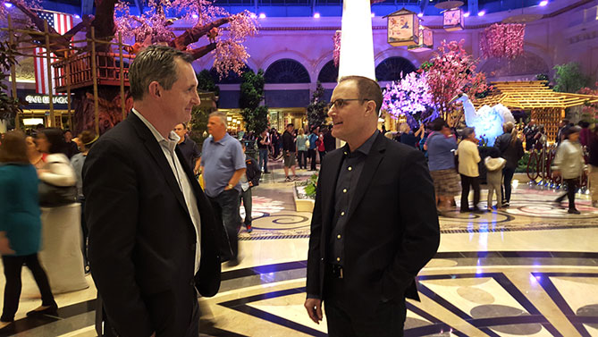 The VP of Sales and VP of Design Innovation at the Belagio Hotel