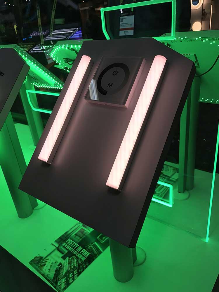 Green Pink Light