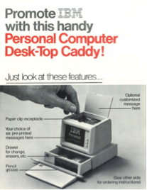 First significant order – IBM PC caddy leave behind, for which IDMD purchased Molding Equipment