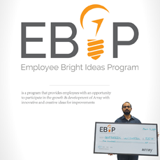 Cost Savings Idea Program, is re-launched as Employee Bright Idea Program